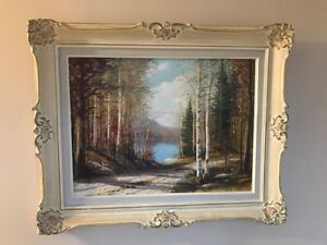 VINTAGE OIL PAINTING BY LISTED CANADIAN ARTIST ERKKI JALAVA