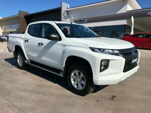 2019 Mitsubishi Triton MR MY19 GLX+ Double Cab White 6 Speed Sports Automatic Utility Muswellbrook Muswellbrook Area Preview