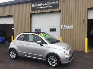 2013 FIAT 500 C Convertible automatique impeccable 42$ sem* Loun