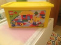 DUPLO LEGO in carry box.