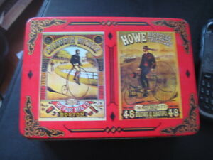 Vintage bicycle playing card, two decks