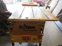 Triton 2000 Table Saw with lots of extra's