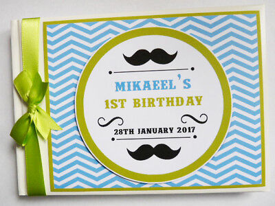 PERSONALISED LITTLE MAN FIRST/1ST BIRTHDAY GUEST BOOK - ANY DESIGN](Little Man First Birthday)