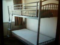 Metal Framed Bunk Beds and Mattresses (less than 6 months use)