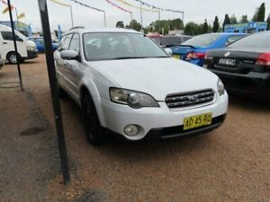 2005 Subaru Outback B4A MY05 Safety Pack D/Range AWD White 5 Speed Manual Wagon Minchinbury Blacktown Area Preview
