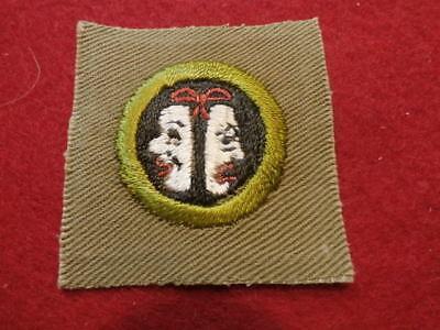Square Merit Badge - Dramatics - Pristine