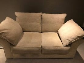 Collins and Hayes 2 seater beige fabric sofa for sale