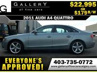 2011 Audi A4 2.0T QUATTRO $179 bi-weekly APPLY NOW DRIVE NOW