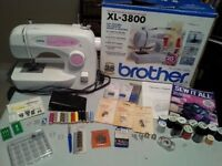 Like New Brother Sewing Machine, Accessories and Fabric