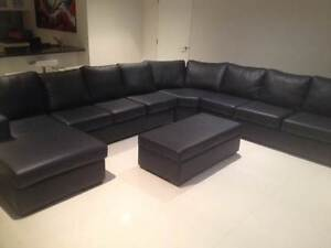 LEATHER LOUNGE MODULAR PERFECT CONDITION ALMOST NEW Newport Pittwater Area Preview