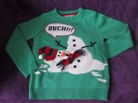 CHRISTMAS JUMPER KIDS SIZE 10/11 YRS