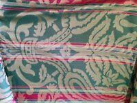 Damask Multi Coloured Full Length Curtains & FREE extra fabric