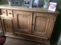 Solid Pine Sideboard. Very well made and heavy.