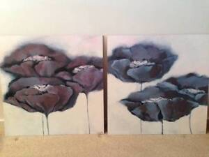 Two Paintings of Poppies Toukley Wyong Area Preview
