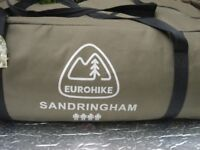 Eurohike Sandringham 4 person tent in excellent condition complete with tent pegs