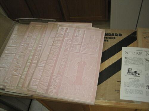 Vintage 1922 Letterpress FLONG Sheets Clip Art Advertising Dept Store Pkg. Lot