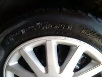 4 Michelin tires 195 55 15 decent Tread remaining
