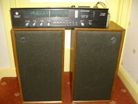 Vintage DYNATRON - 30 WATT AMPLIFIER / TUNER inc. PHONO STAGE + LS1424 - SPEAKERS - shed or garage