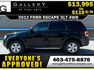 2012 Ford Escape XLT 4X4 $119 Bi-Weekly APPLY NOW DRIVE NOW