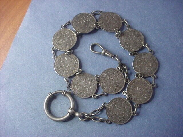 Germany Silver Coin Watch Fob #35291