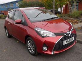 TOYOTA YARIS 1.3 VVT-I ICON M-DRIVE S 5d AUTO 99 BHP PARKING CA (red) 2015