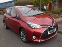 TOYOTA YARIS 1.3 VVT-I ICON M-DRIVE S 5d AUTO 99 BHP PARKING CA (red) 2015