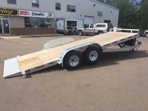 "NEW 2018 K-TRAIL 80"" x 20' GALVANIZED POWER TILT TRAILER"