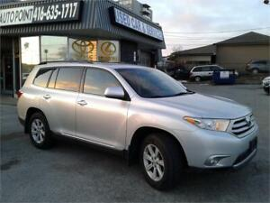 2013 Toyota Highlander AWD, LEATHER, ONE OWNER, NO ACCIDENTS