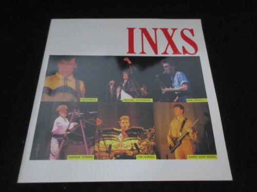 Inxs 1984 Japan Tour Book Concert Program Michael Hutchence Synth