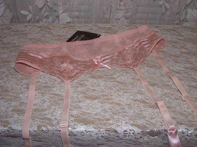 La Perla Spring in New York M Lacy Garter Belt Peach Pink
