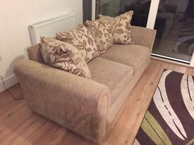 High quality 3 Seater Fabric Sofa with duck feather pillows.