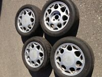 Nissan 1995 240sx s14 oem rims with Bridgestone Potenza RE010