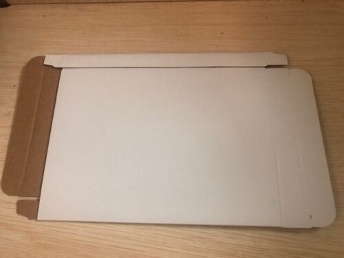 100 WHITE CORRUGATED CARDBOARD DVD CASE MAILER BOX JS86 IN STOCK NOW