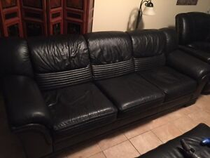 Art Shoppe Black Leather Couch