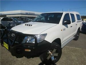 2011 Toyota Hilux KUN26R MY12 SR Double Cab White 4 Speed Automatic Utility Cardiff Lake Macquarie Area Preview