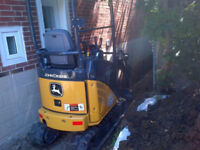 EXCAVATING MINI EXCAVATORS DEMOLITION REASONABLE PRICES