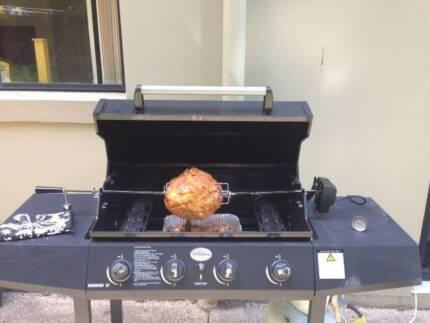 Jackeroo 4 burner BBQ with 4 prong spit roaster South Brisbane Brisbane South West Preview