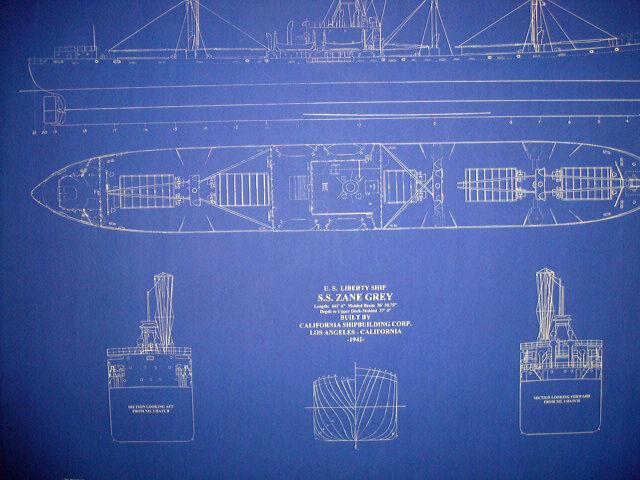 Liberty Ship WW2 SS Zane Grey 1942 Blueprint Plan 24