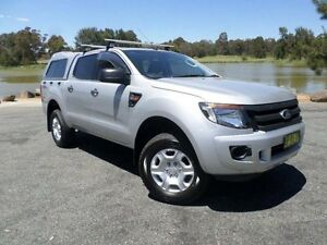 2012 Ford Ranger PX XL 2.2 (4x4) Silver 6 Speed Automatic Crewcab Belconnen Belconnen Area Preview