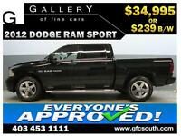 2012 DODGE RAM SPORT CREW *EVERYONE APPROVED* $0 DOWN $239/BW!