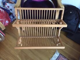 Beech Wall hanging Plate Rack