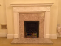 FIREPLACE,FIRE SURROUND GAS FITTING AND HEARTH ETC