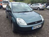 2002 Ford Fiesta, starts and drives well, MOT until February 2018, clean inside and out, car located
