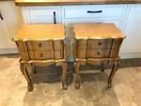 Pair of dark gold bedside tables