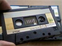 NOW RARE 3x GOLD ISSUE TDK SA 90 TYPE 2 CHROME CASSETTE TAPES 1985-87 WITH CARDS CASES & LABELS