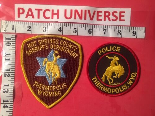 LOT OF TWO DIFFERENT THERMOPOLIS WYO  SHOULDER PATCHES  Q117
