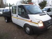2013 Ford Transit 2.2TDCi Double cab tipper/pick up NO VAT 350 LWB 70,000 MILES