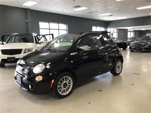 2012 FIAT 500 Lounge*LEATHER*BOSE*BLACK ON RED*LOW KM*