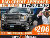 2013 GMC SIERRA* 4x4 * FROM $206/BiWeekly * BAD CREDIT APPROVALS
