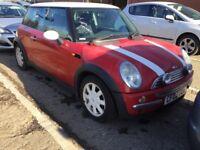 MINI COOPER 1.6 3 DOOR HATCHBACK RED WHITE PETROL MANUAL 4 SEAT CHEAP INSURANCE N GOLF 1 SERIES POLO